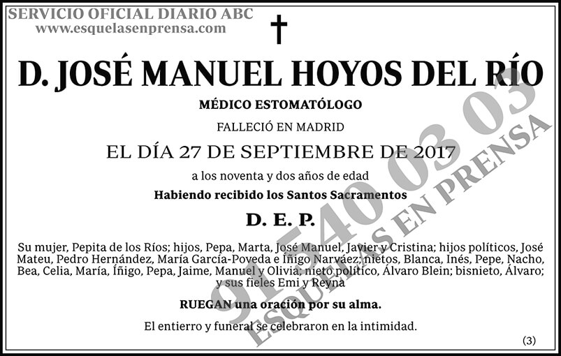 José Manuel Hoyos del Río